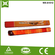 plastic and steel accident warning triangle