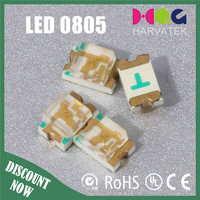 High quality shenzhen 2.0 *1.25*1.1mm green smd led 0805