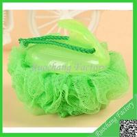 Promotional colorful bath gel ball with samll handle bath fizz balls