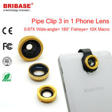 3 in 1 Pipe Shape Camera Lens for Nokia Galaxy S4 Mini I9190 High Quality