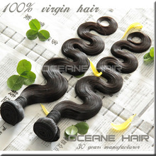 5A unprocessed body wave brazilian human hair