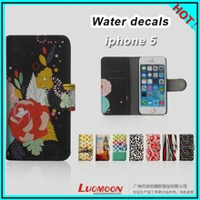 Customized Painting Leather Cover for Iphone5/ 5c Iphone 5S