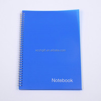 notebook with metal spiral/PP cover notebook for school exercise