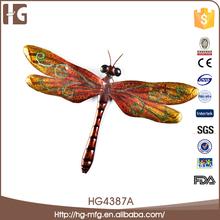 Precio bajo de la libélula hierro 21x32x3CMH adornos de jardín venta al por mayor