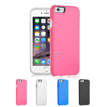 Shock Proof Hybrid Slim Silicone PC Case Cover For Apple iPhone 6 With Screen Protector