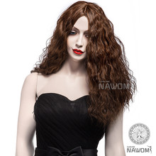 5109 good quality long afro mongolian full lace wig cheap wigs