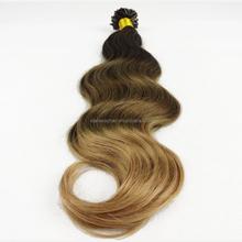 bohemian remy human hair extension keratin curly hair extensions two tone remy hair