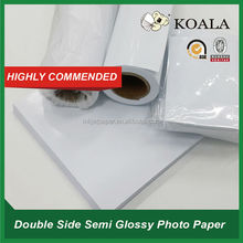 130g Double-side semi glossy(matte) Photo Paper for large format printer Epson HP Canon Mimaki Roland factory supplier