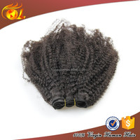 Fashion afro textured hair extensions, hot sale afro kinky bulk human hair