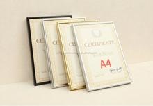 wholesale hot selling cheap certificate frame, metal aluminum photo picture frame A1 A2 A3 A4