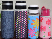 Logo Printing Neoprene Thermos Cup Sleeve,Vacuum Mug Holder,Flask ooler,Water BottlCe Insulator, Personalized Coolies
