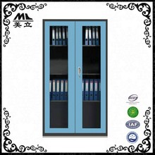 Office steel furniture cheap used metal file storage cabinet with glass door