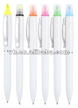 Hot sale 2 in 1 pen and highlighter combined for promotion