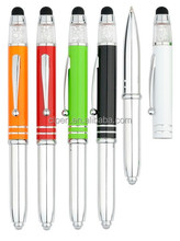 Most beautiful stylus touch crystal ball pen with led light