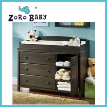 Amazing Minimalist Baby Changing Table Design Ideas With Dark Brown Wooden Material Changing Table