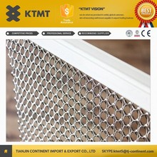 New style decorative metal ring mesh/decorative metal curtain in KTMT