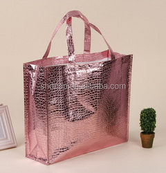 Newest Best-Selling metallic non woven shop bag