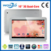MTK quad core 10.1 inch big screen tablet pc with built in 3G