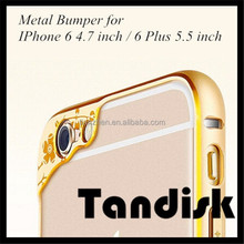 Ultra thin Metal Aluminum Frame Bumper For IPhone 6 & Plus Newest Angel Eyes Slim Shockproof Phone Back Cases