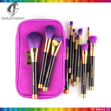 2015 New cosmetics products TZ blanc 15pcs paint brush makeup brushes free samples with brush bag