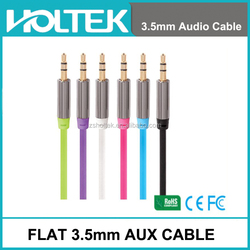 High Quality 3.5 mm Male Headphone Connector Aux Audio Cable