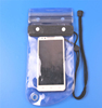0.3mm frosted transparent pvc waterproof cell phone bag with strap