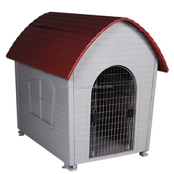 Plastic pet house/plastic dog house with stainless steel door/large dog house