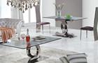 825# aço inoxidável conjuntos de mesa de jantar tampo de mármore retângulo