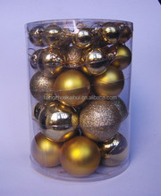 XMAS DECORATION 6cm plastic christmas ball 24/S with high quality from china