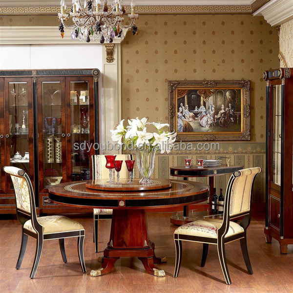 0010 Spain High End Design Dining Room Furniture Set