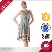 Factory Price Sexy Lady Summer Casual Dress Neckline Beaded Latest Formal Dress Patterns
