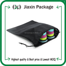 Factory price cotton fabric velvet drawstring shoe bags with logo printing