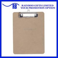 Cheap promotional 100% Recycled MDF clip board