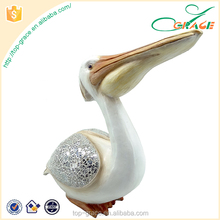 nautical ornament resin pelican for home decoration