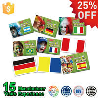 Foshan Body Art Suppliers Plastic Stick Flag Face Painting