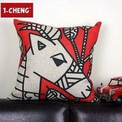 Fashion Pillow Case Colored Drawing Design Pillow Body Cushion Cover Chair Seat Cushion Home Decorative Pillow Cover