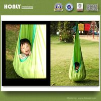Varicoloured joki hanging crow's nest canvas kids cocoon swing