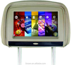 Auto 9 inch touch screen headrest car DVD player with sony lens, USB, SD, FM radio, IR, MP4, MP5 player