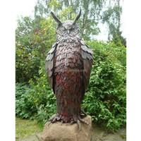 Large bronze owl sculpture for sale