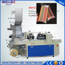 cheap price hot disposable group drinking plastic Straight straw packaging machine automatic