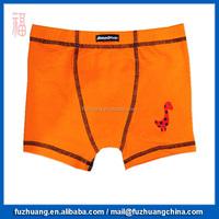 Children Boys Plain Comfortable Boxer Orange Underwear 023