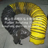 pvc flexible air duct/hear resistant flexible air duct/black plastic pipe round duct
