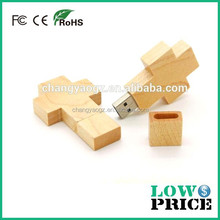 New product 3d wooden cross pen drive 3.0/usb flash drive wholesale 8gb wooden cross with whole warranty
