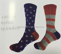 wholesale American style unisex cotton tube socks customized socks manufacturer