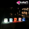 8 LED light Solar-Powered swimming pool decorative Bucket lamp for Party