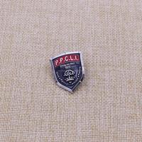 Promotion Metal Badge shield shape back butterfly cap badge