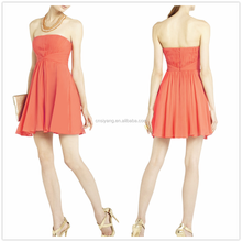 2015 summer fashion strapless with skirt drape, bridesmaid dress style- SYK15040