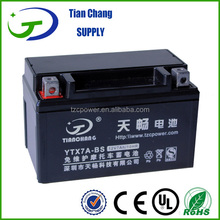 12V 7Ah YTX7-BS Maintenance Free AGM Non-spillable Motorcycle Motor Generator Balance Scooter Battery