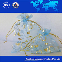 Customized Logo organza pouch organza bags wholesale for wedding packing