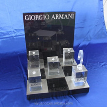 Hot!!! nem acrylic customized watch display case for shop for sale with clear recks